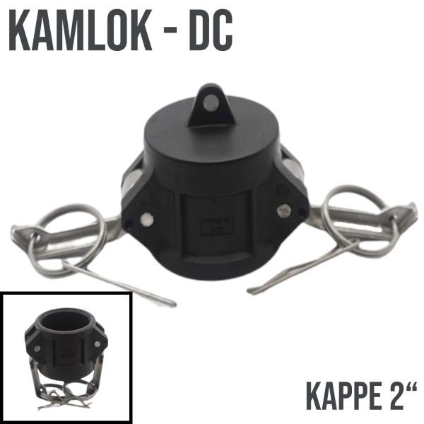 "Kamlok Typ DC (PP) Mutterteil Kappe 2"" DN50"