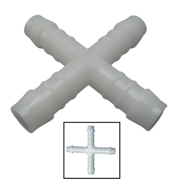 12mm POM Schlauchverbinder Stutzen Verschraubung Fitting Kreuz