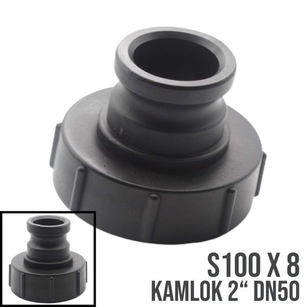 """S100x8 auf Kamlok VT 2"""" (DN50) IBC Adapter Container Tank Zubehör"""
