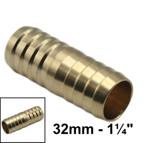 """1 1/4"""" - 32 mm Schlauchverbindung Schlauch Verbinder Kupplung Schlauchtülle"""