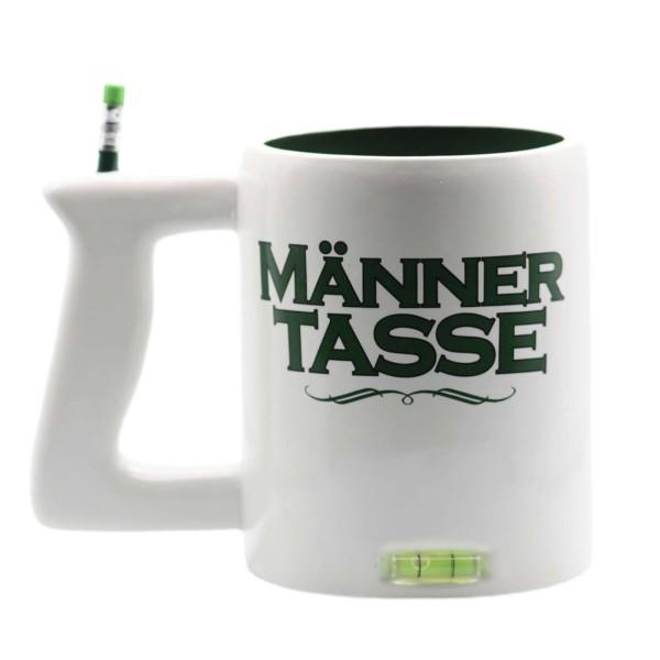 Männertasse mit Wasserwaage und Stift Kaffeetasse Becker 350ml 13,5cm