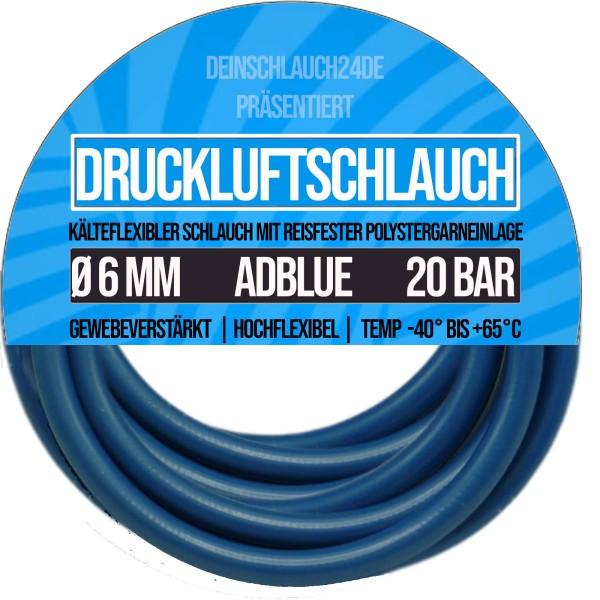 Ø 6 x12mm Druckluftschlauch Kompressorschlauch Luft Wasser ADBLUE - Meterware
