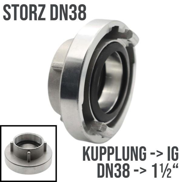 """STORZ DN38 Kupplung Innengewinde IG 1 1/2"""" Saug Bau Feuerwehr Schlauch 10bar"""