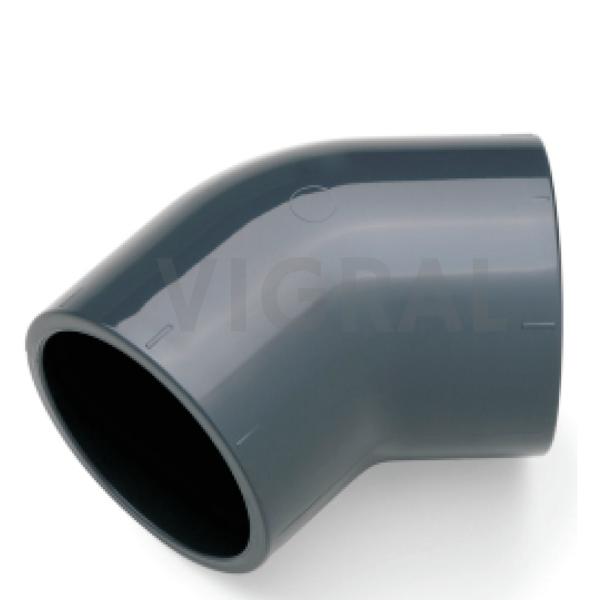 32mm PVC Fitting Klebe Muffe Rohr Winkel 45°