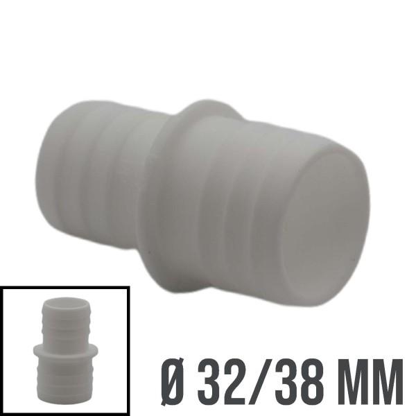 32x38mm Schlauchtülle Verbinder Stutzen Doppel Tülle Pool Schlauch Reduzierer