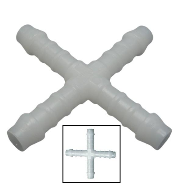 6mm POM Schlauchverbinder Stutzen Verschraubung Fitting Kreuz