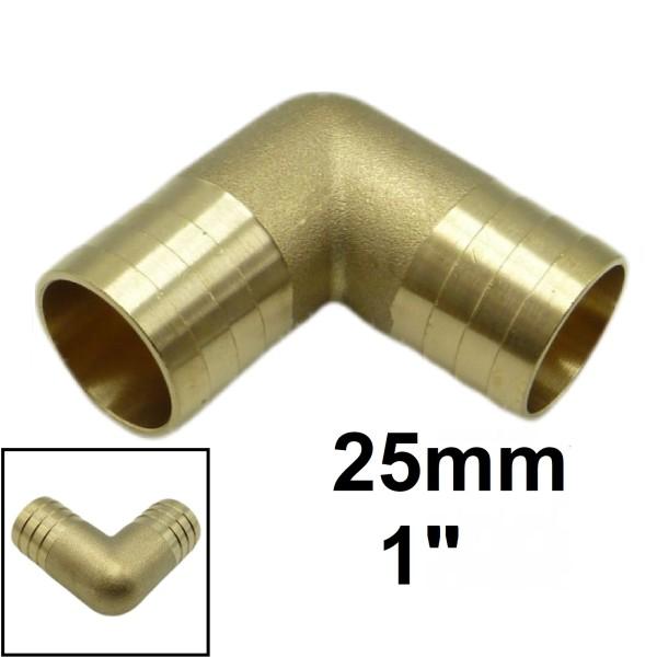 """25mm 1"""" Schlauchverbindung 90° Winkel Schlauch Verbinder Tülle Kupplung"""
