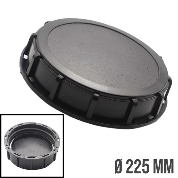 225 mm IBC Deckel Container Zubehör Verschluss Einlass - schwarz