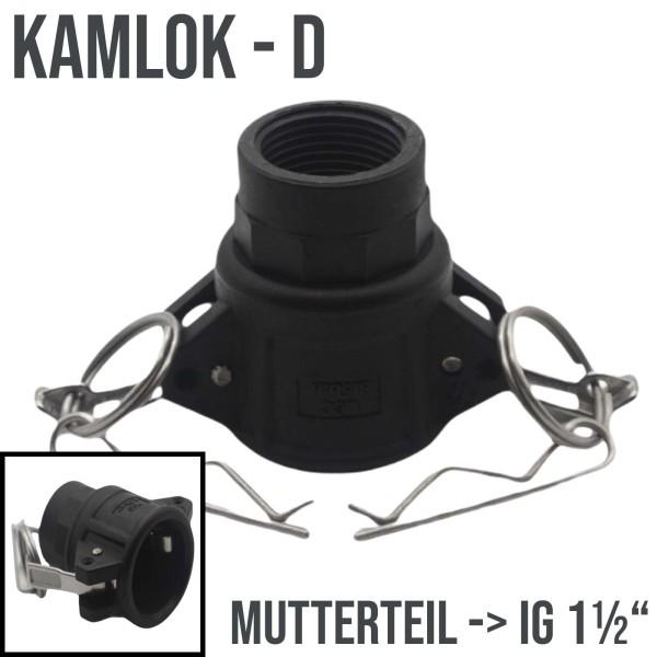 "Kamlok Typ D (PP) Mutterteil ->IG 1 1/2"" DN38"
