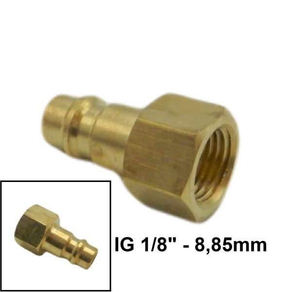 """Druckluft Gewindestecker IG NW7.2mm - 1/8"""" - 8,85mm"""