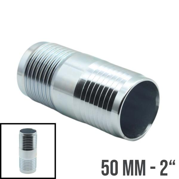 """50mm - 2"""" Stahl Schlauchverbindung Schlauch Verbinder Kupplung Tülle"""