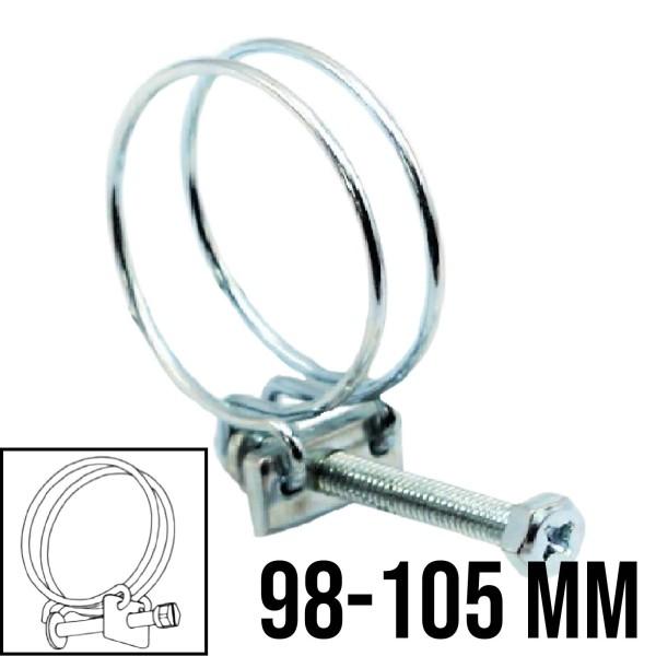Drahtschelle 2-Draht Luft Spiral Ansaug Schellen Schlauch verzinkt W1 8mm   98-105mm