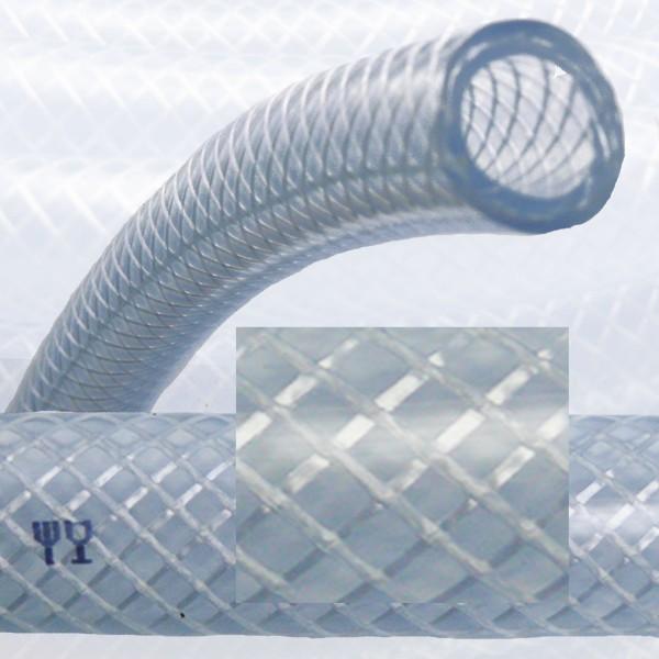 10 x 16 mm PVC Druckluftschlauch Gewebe Universal Wasser Luft Schlauch klar