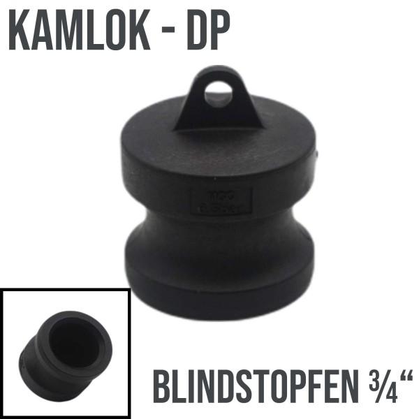 """Kamlok Typ DP (PP) Blindstopfen Stopfen 3/4"""" DN19 DN20"""