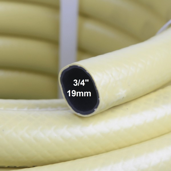 """3/4"""" 19mm Gartenschlauch Wasserschlauch 3-lagig gelb inkl. Messing-Anschlüsse"""