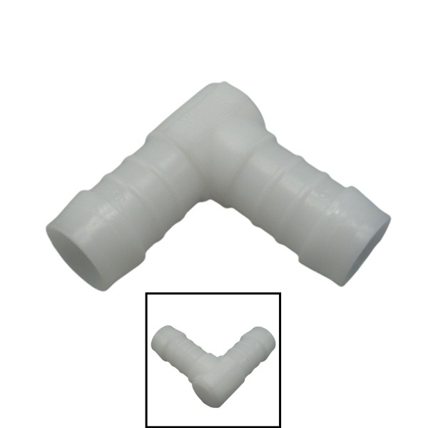 12mm POM Schlauchverbinder Stutzen Verschraubung Fitting Winkel 90°