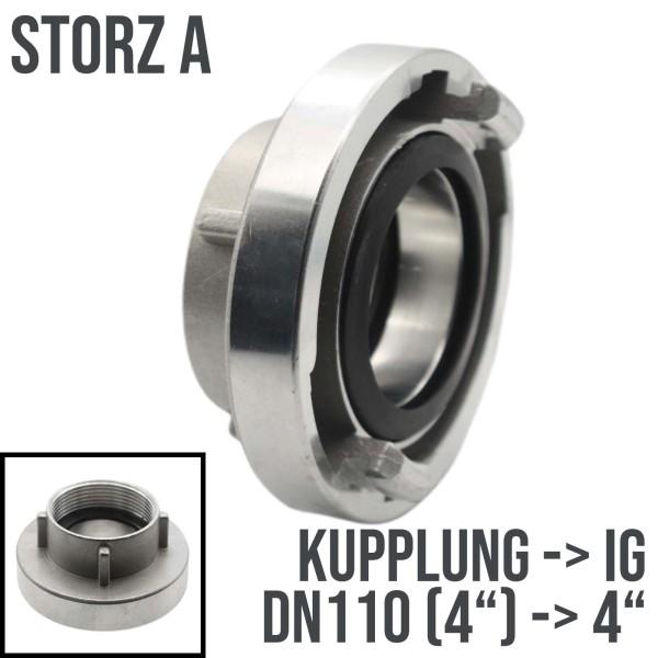 """Storz 110-A A-110 Saug Bau Feuerwehr Schlauch Kupplung Innengewinde IG 4"""""""