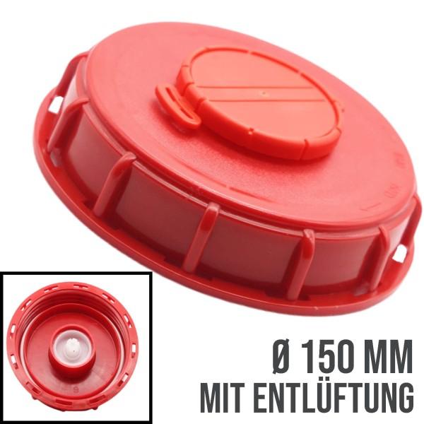 150 mm IBC Deckel mit Entlüftung Container Zubehör Verschluss Einlass - rot