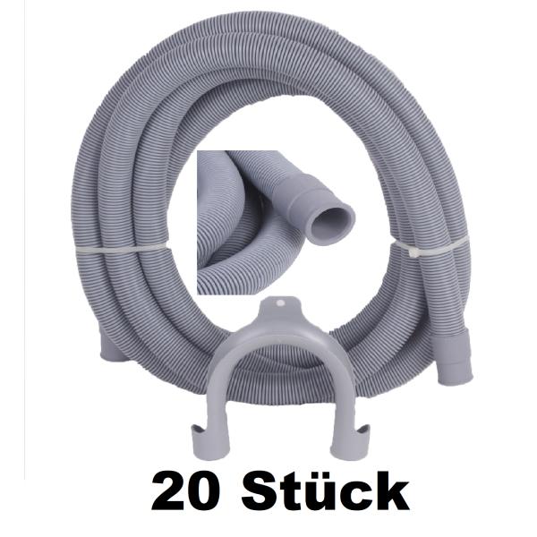20 Stück Ablaufschlauch Waschmaschine Spülmaschine 19/22mm 3,50m POSTEN
