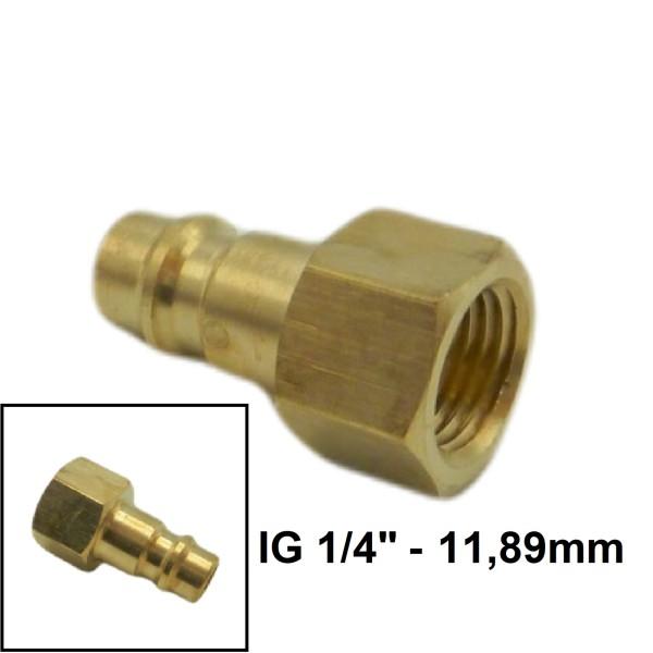 """Druckluft Gewindestecker IG NW7.2mm - 1/4"""" - 11,89mm"""
