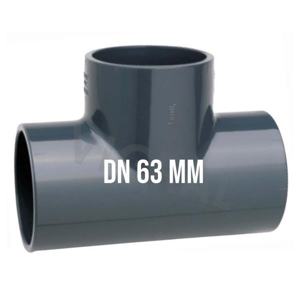 63 mm PVC Klebe Fitting T-Stück 90° Muffe Verbinder