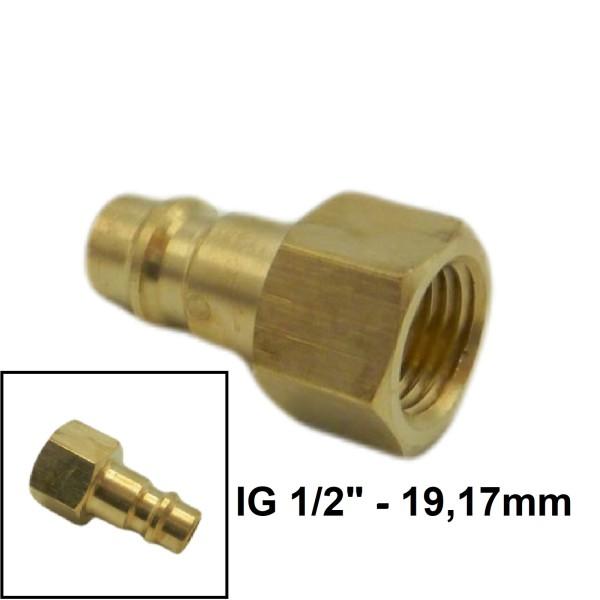 """Druckluft Gewindestecker IG NW7.2mm - 1/2"""" - 19,17mm"""