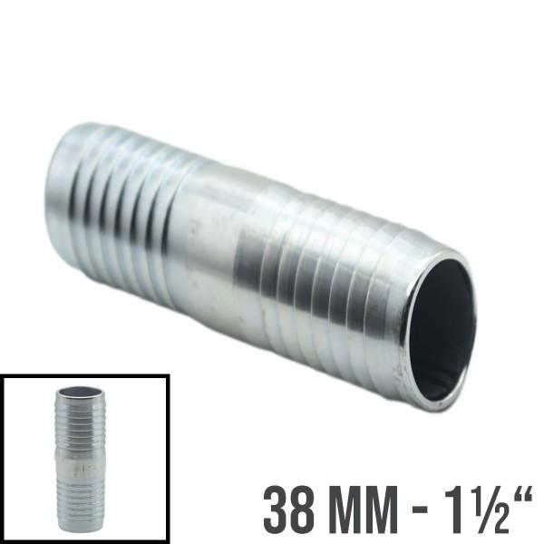 """38mm - 1 1/2"""" Stahl Schlauchverbindung Schlauch Verbinder Kupplung Tülle"""