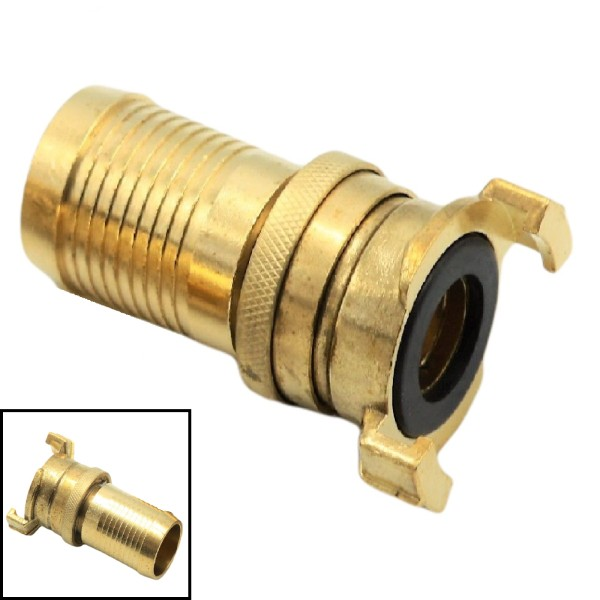 """1 1/4"""" - 32 mm Messing Schlauch Schnell Kupplung Tülle mit Kontermutter (GEKA kompatibel)"""