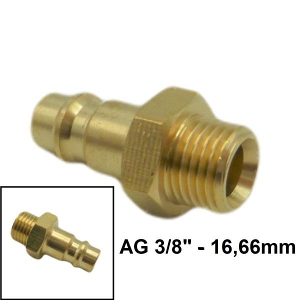 """Druckluft Gewindestecker AG NW7.2mm - 3/8"""" - 16,66mm"""
