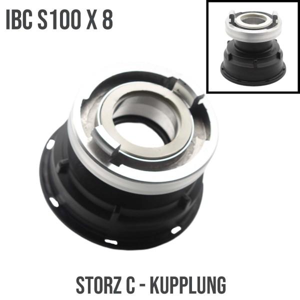 S100x8 IBC Adapter auf STORZ C Übergangsstück Pumpenanschluß Container Tank Zubehör