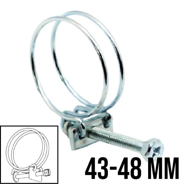 Drahtschelle 2-Draht Luft Spiral Ansaug Schellen Schlauch verzinkt W1 8mm | 43-48mm