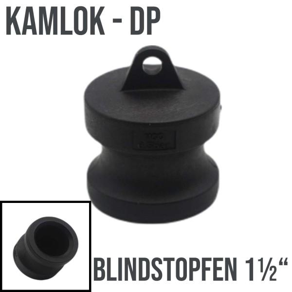 """Kamlok Typ DP (PP) Blindstopfen Stopfen 1 1/2"""" DN38"""