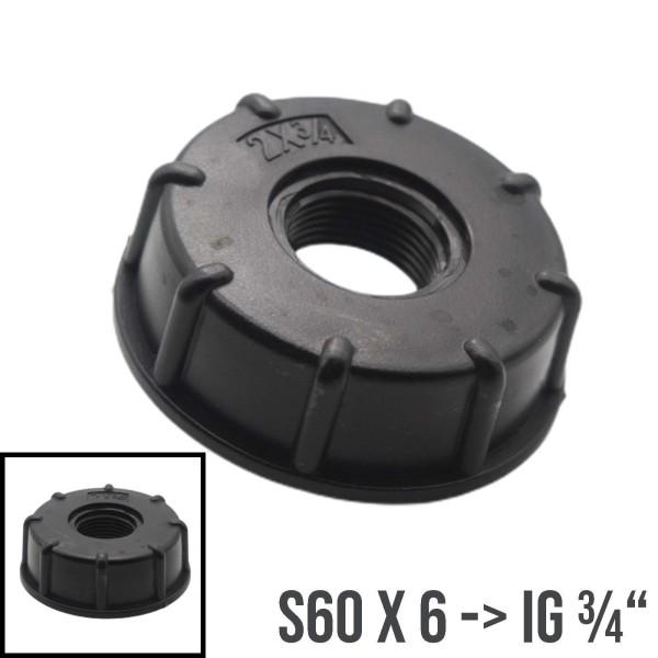"""S60x6 mit IG 3/4"""" IBC Adapter Container Tank Zubehör"""