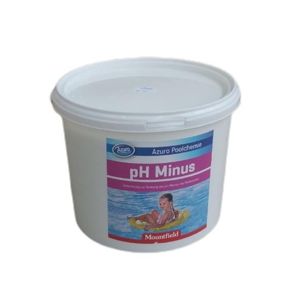 AZURO pH minus Senker Desinfektion Wasserpflege Poolpflege 4,5 kg