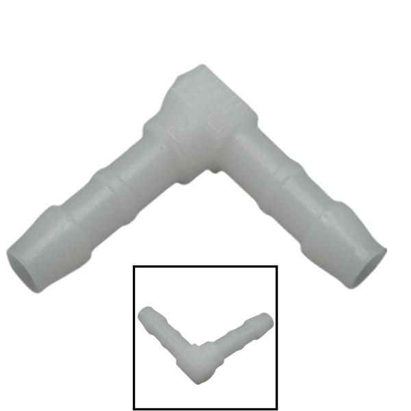 4mm POM Schlauchverbinder Stutzen Verschraubung Fitting Winkel 90°