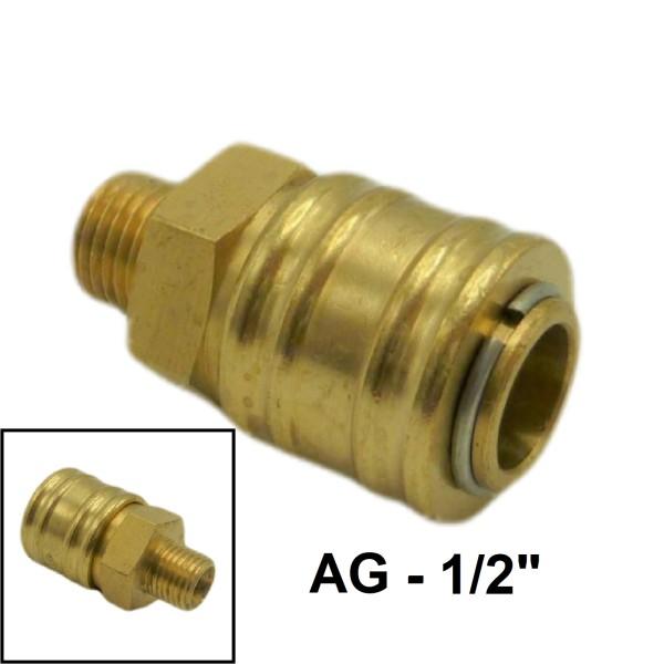 """Druckluft Ventilsteckdose AG NW7.2mm - 1/2"""" - 20,95mm"""