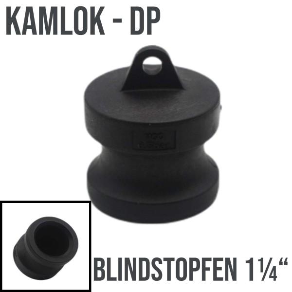 """Kamlok Typ DP (PP) Blindstopfen Stopfen 1 1/4"""" DN32"""