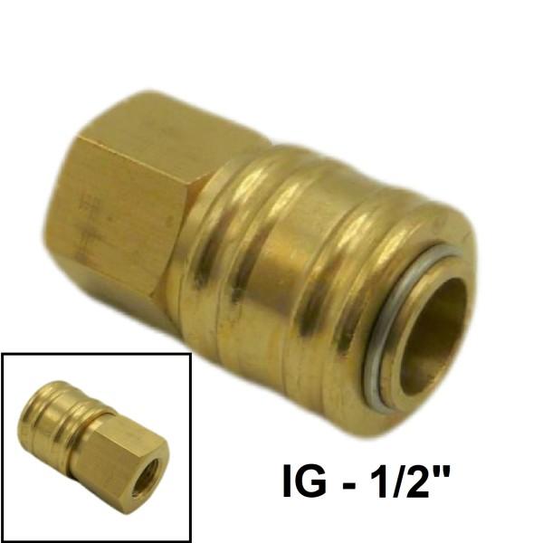 """Druckluft Ventilsteckdose IG NW7.2mm - 1/2"""" - 19,17mm"""