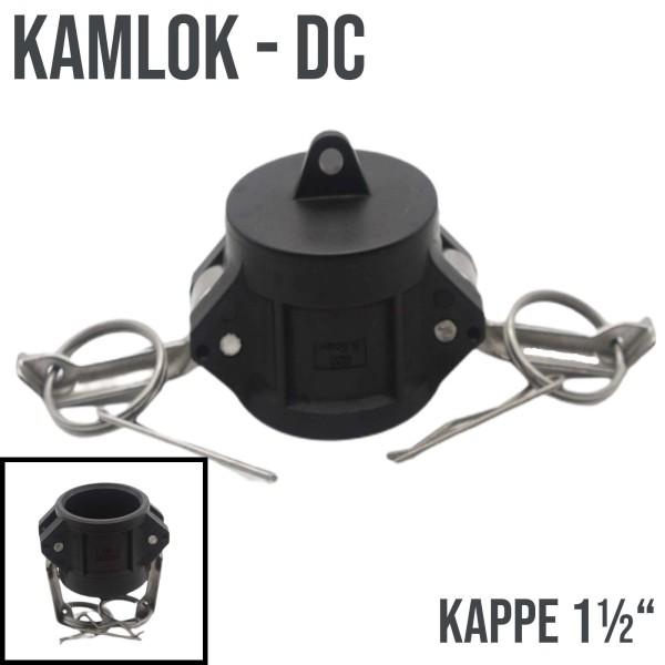 "Kamlok Typ DC (PP) Mutterteil Kappe 1 1/2"" DN38"