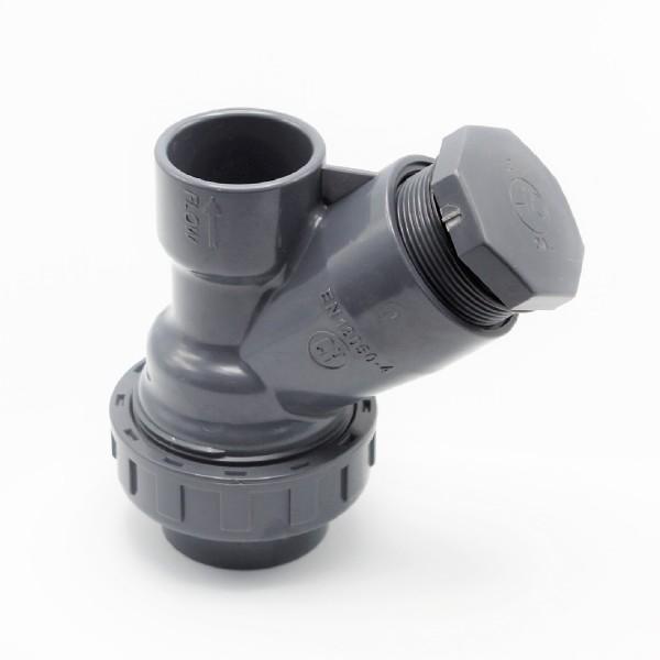 25mm PVC Fitting Klebe Muffe Rückschlagventil Rückschlagklappe Y mit Ball / Kugel
