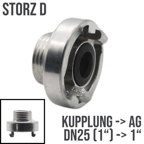 """STORZ D DN25 Kupplung Außengewinde AG 1"""" Saug Bau Feuerwehr Schlauch 10bar"""