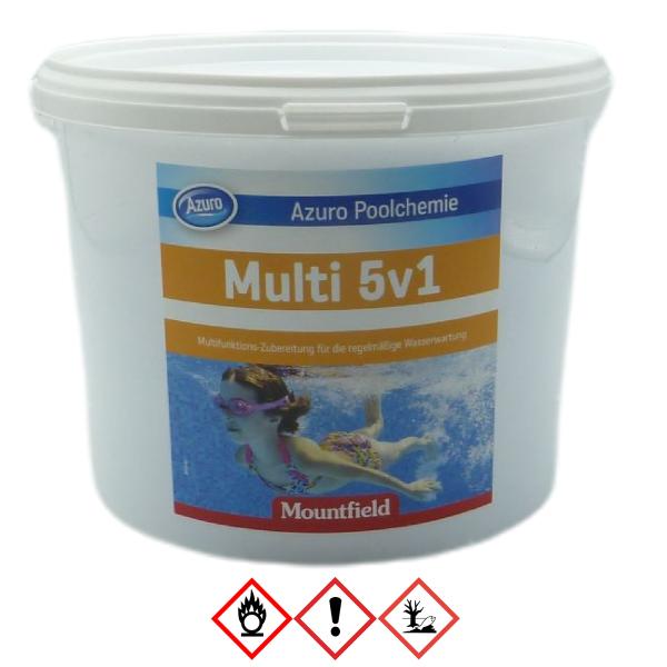 Azuro Pool Chlor Kombi Multi Tabs 5in1 Multifunktionstabletten 200g - 3kg