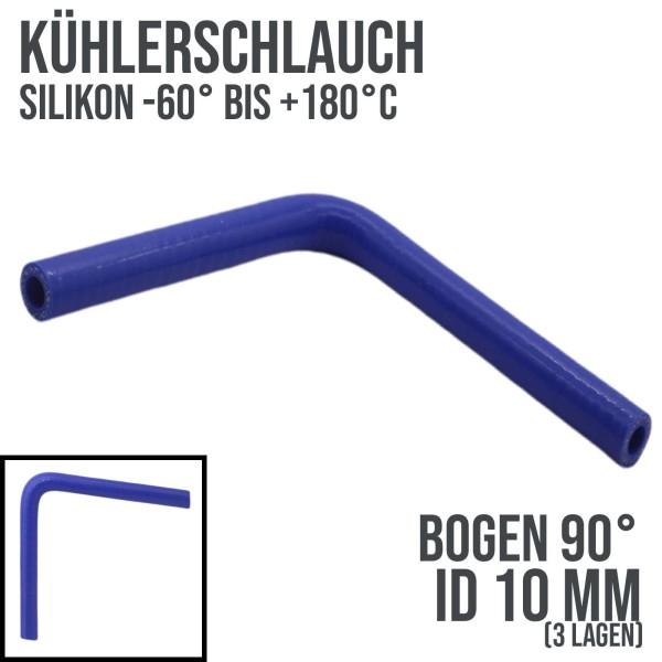10 x 18mm Kühlerschlauch Silikon Bogen 90° LLK Ladeluft Kühlmittel Schlauch blau - 10bar