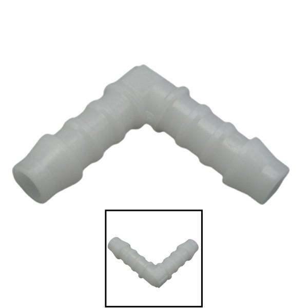 8mm POM Schlauchverbinder Stutzen Verschraubung Fitting Winkel 90°