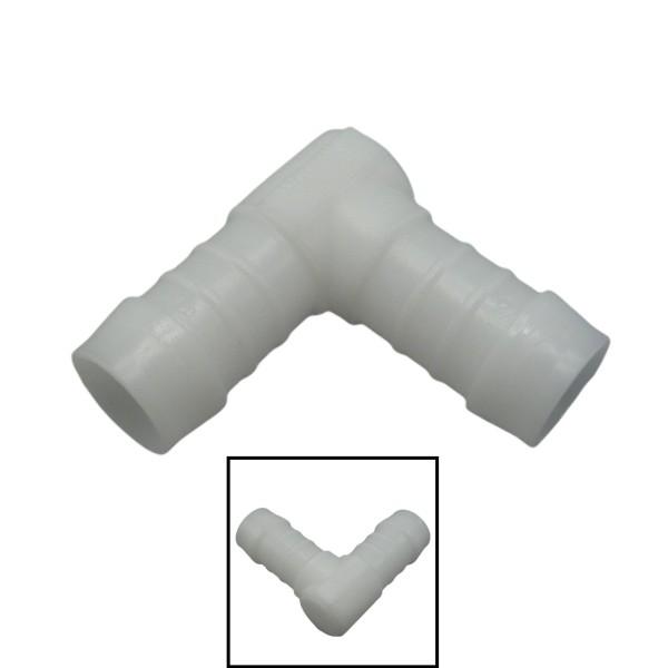 25mm POM Schlauchverbinder Stutzen Verschraubung Fitting Winkel 90°