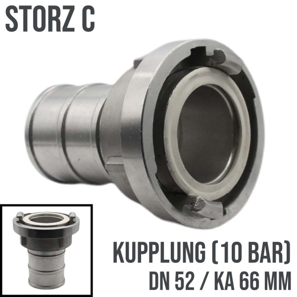 """Storz C DN52 Saugkupplung Fest Bau Feuerwehr Schlauch Kupplung 2"""""""