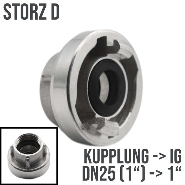 """Storz D DN25 Saug Bau Feuerwehr Schlauch Kupplung Innengewinde IG 1"""""""