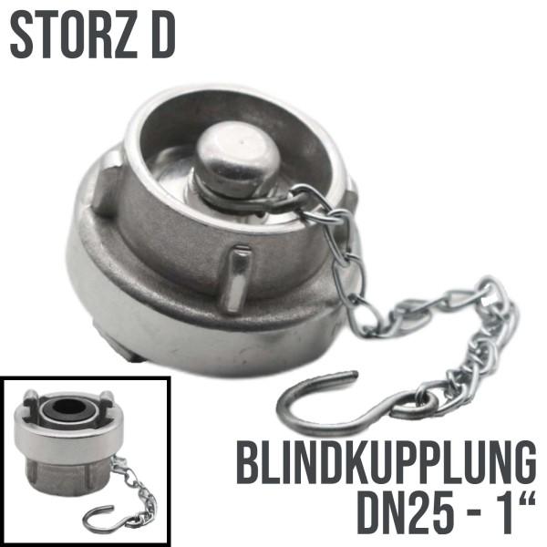 Storz D DN25 Blindkupplung mit Kette Kupplung Schlauchkupplung Alu PN10