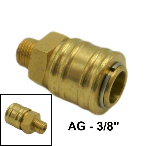 """Druckluft Ventilsteckdose AG NW7.2mm - 3/8"""" - 16,66mm"""